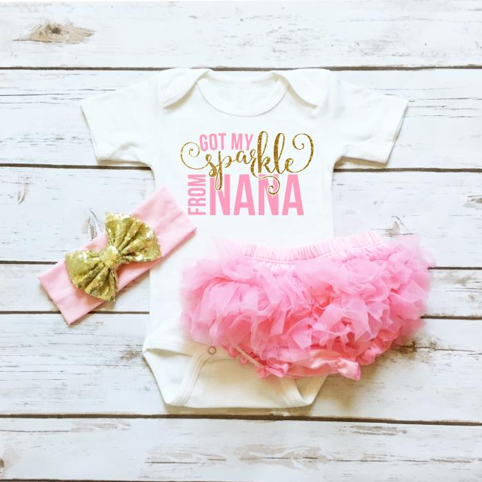 Baby Clothes - Got My Sparkle From Nana Infant Bodysuit