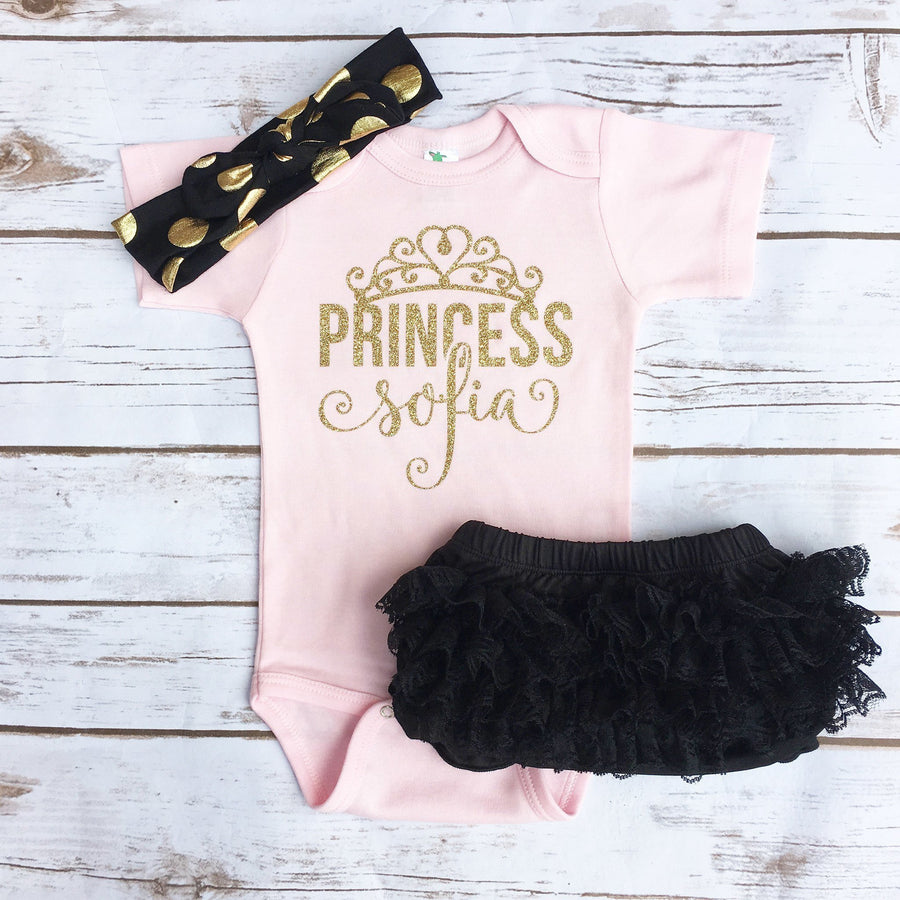 Baby Clothes - Personalized Princess Bodysuit
