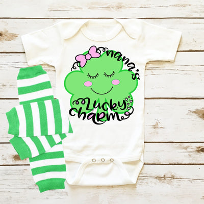 Baby Clothes - Personalized Shamrock Infant Onesie
