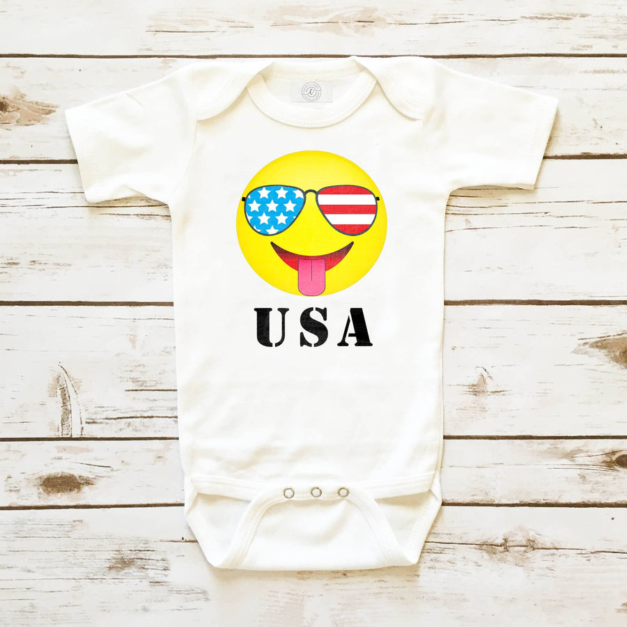 Baby Clothes - USA Emoji Infant Bodysuit 4th Of July