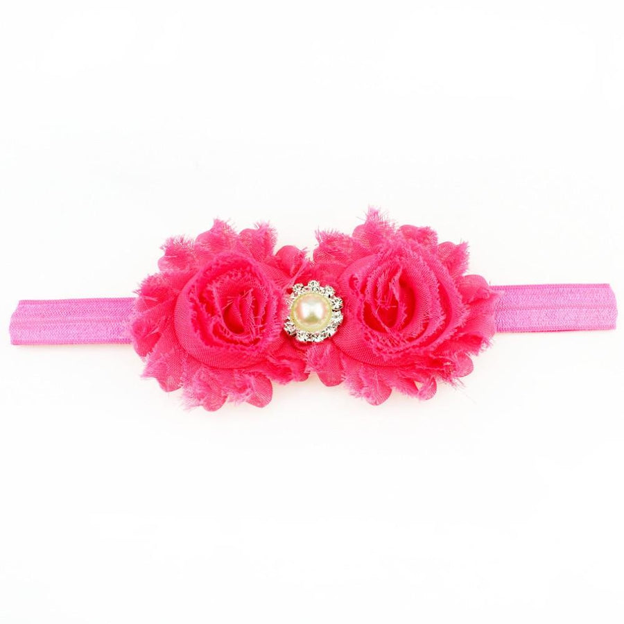 Baby Girl Accessories - Hot Pink Shabby Flower Headband
