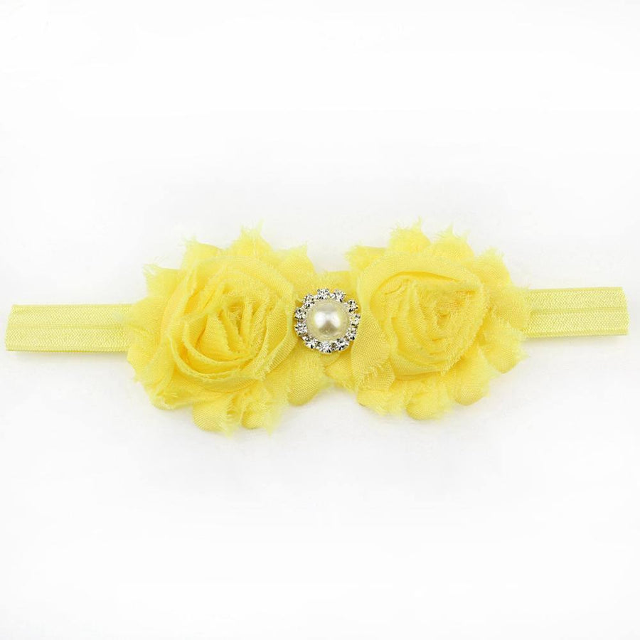 Baby Girl Accessories - Lemon Shabby Flower Headband
