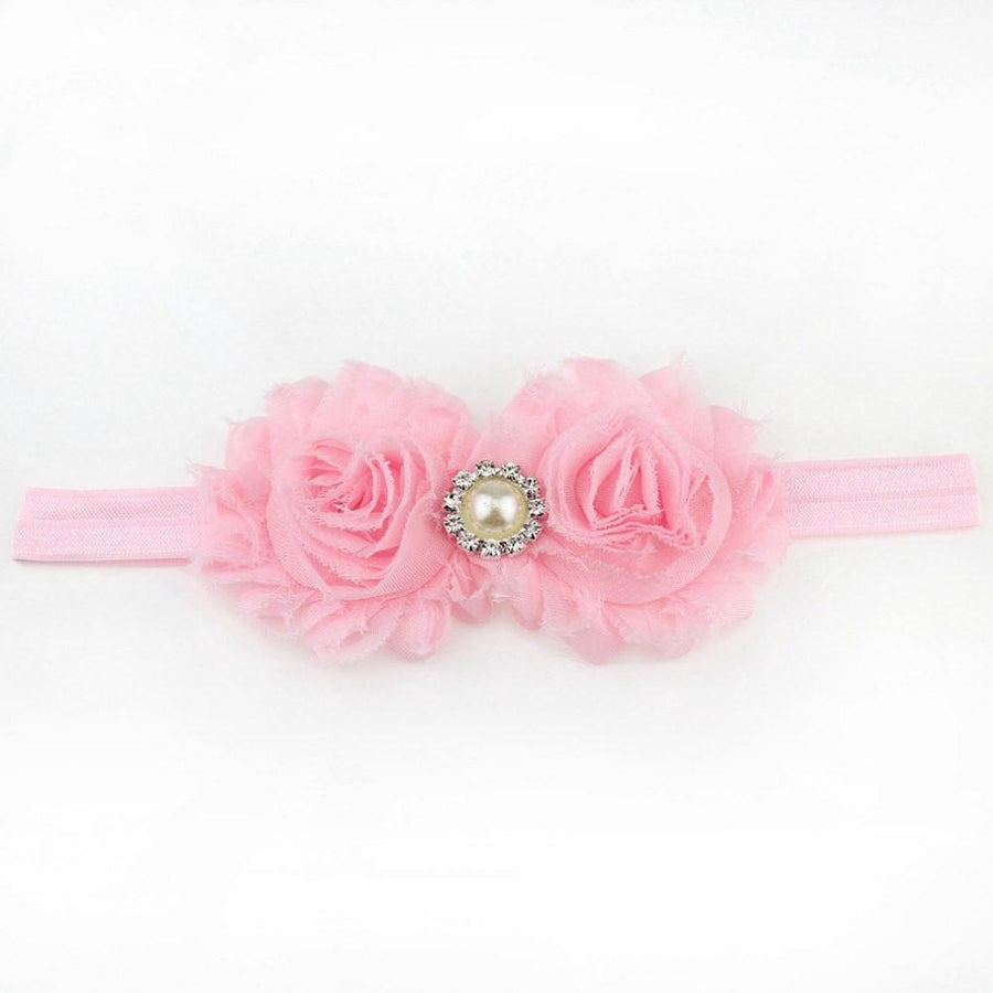Soft Pink Shabby Flower Headband