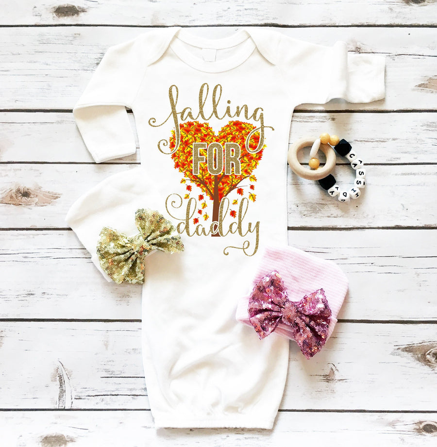 Falling For Daddy | Newborn Gown - Cassidy's Closet