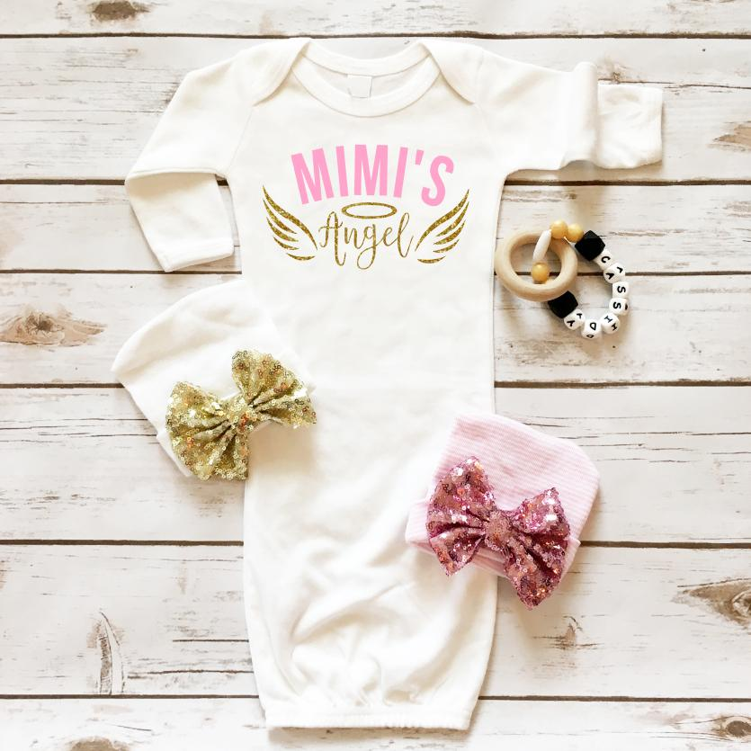 Mimi's Angel Baby Gown -  - Cassidy's Closet