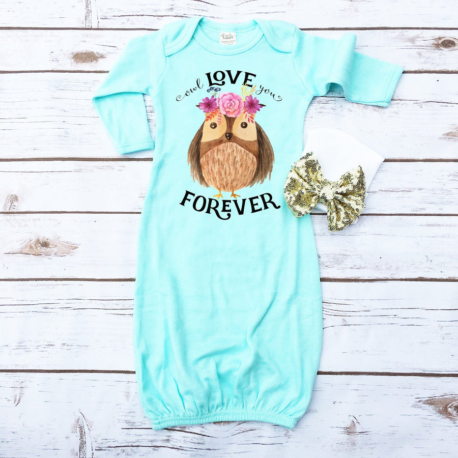 Owl Love You Forever | Newborn Gown - Cassidy's Closet
