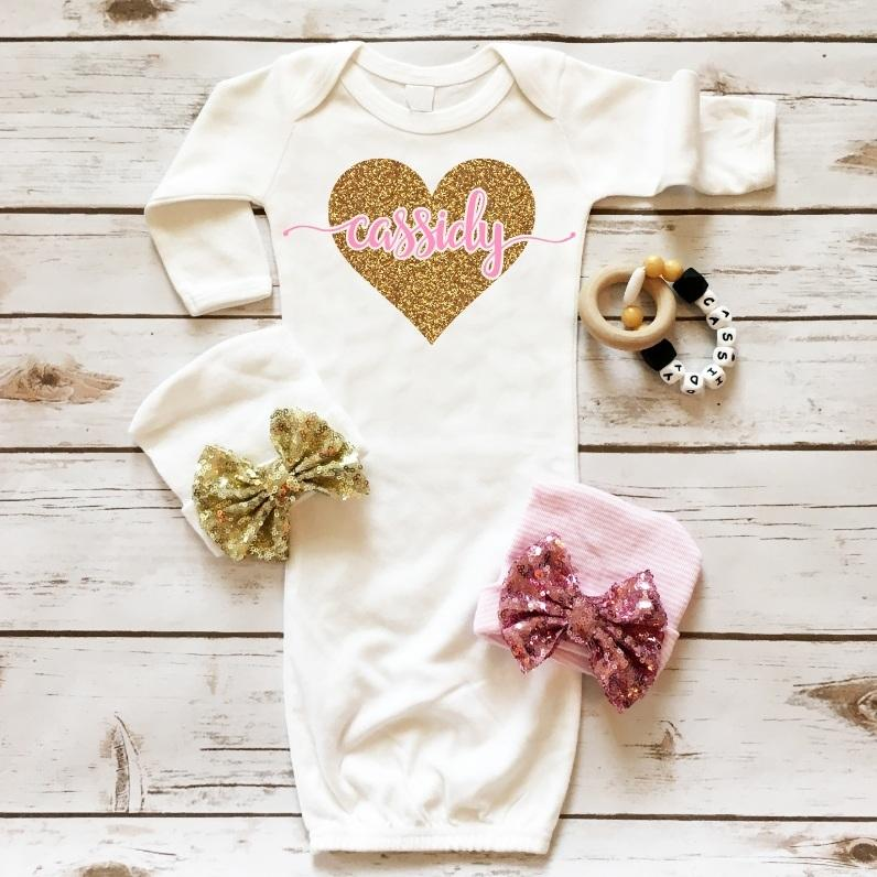 Personalized Baby Gown - Cassidy's Closet