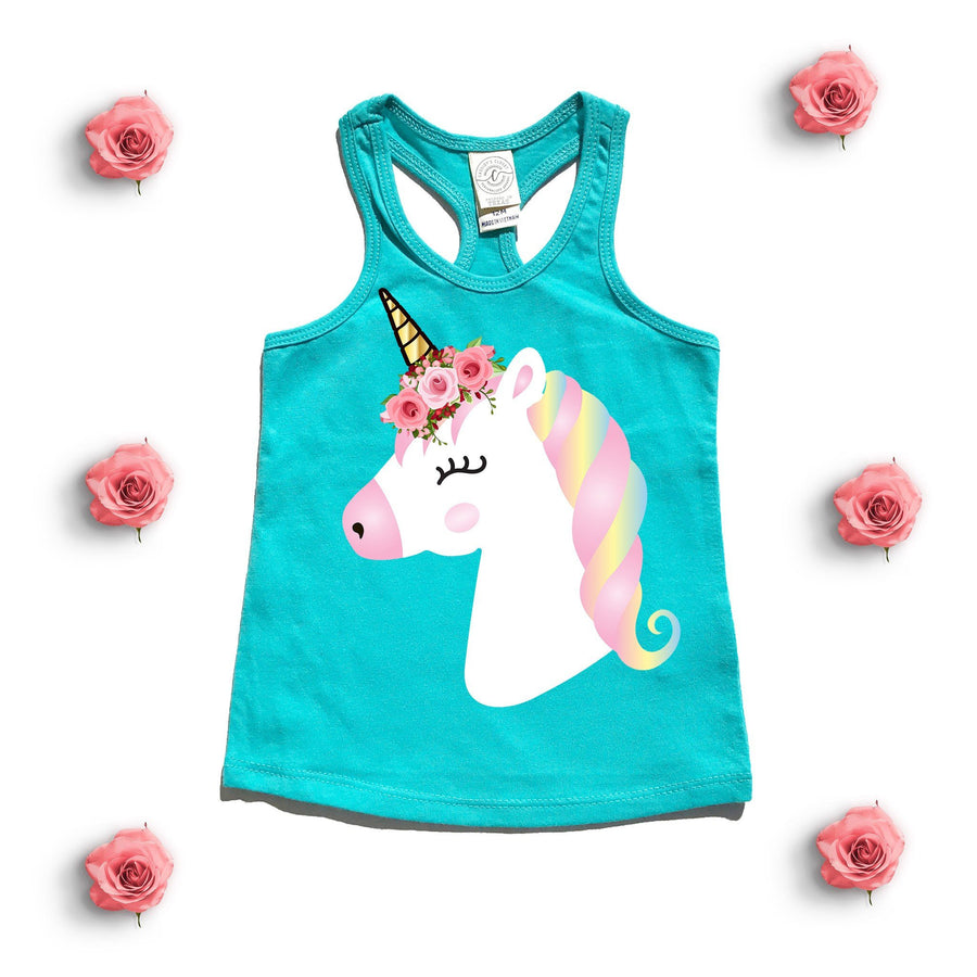 Tank Top - Floral Unicorn Tank Top