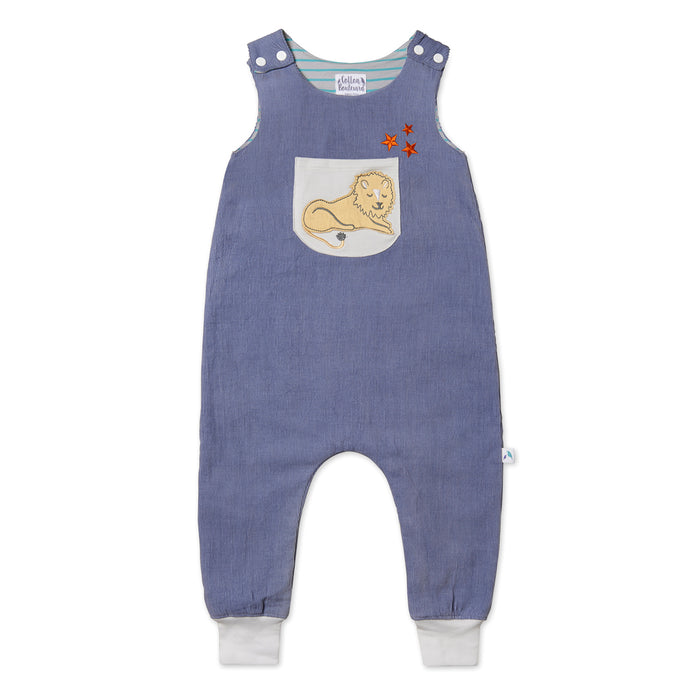 Needlecord Lion Dungarees