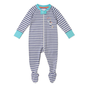 Pure Organic Cotton Striped Sleepsuit - Only size 18-24 months left!