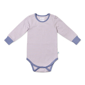 Long Sleeved Lavender Stripe Bodysuit
