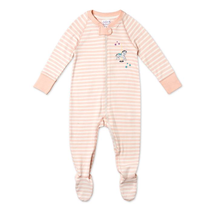 Pure Organic Cotton Striped Sleepsuit