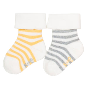 2 pack terry socks AW19 - Only size 12-24 months left!