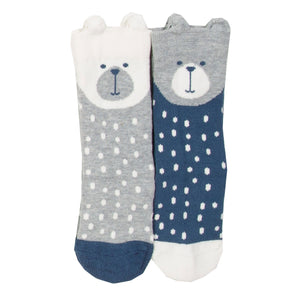 2 pack beary socks
