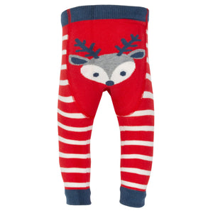 Reindeer knit leggings