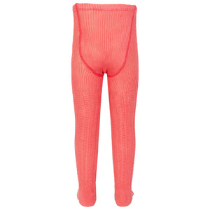 Cable Rib Tights Pink