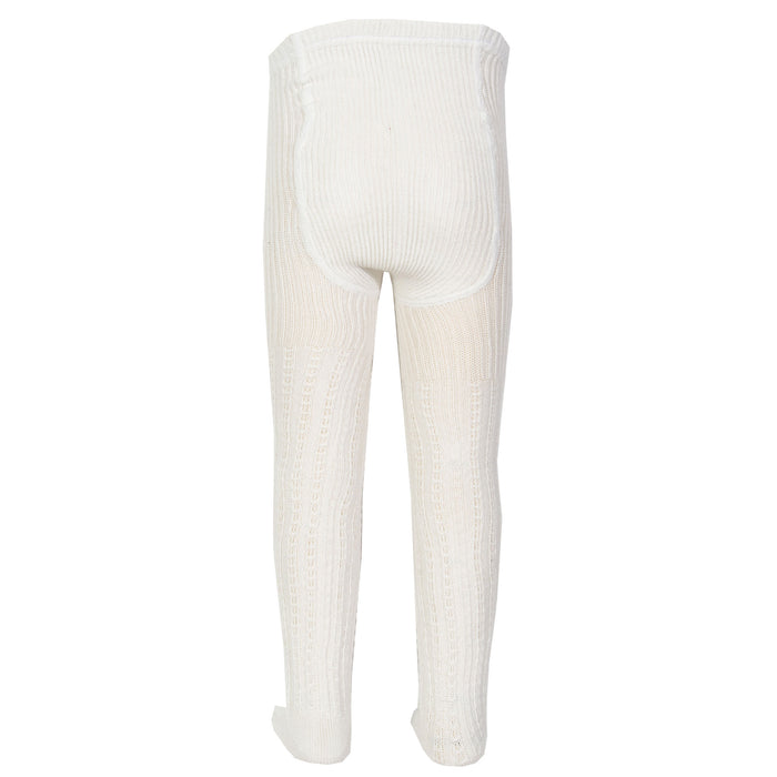 Cable rib tights cream
