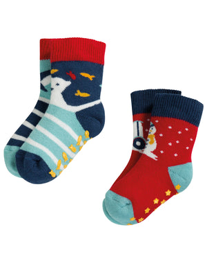Grippy Socks 2 Pack - Only size 6-12 months left!