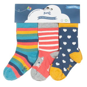 3 Pack Kitty Cat Socks