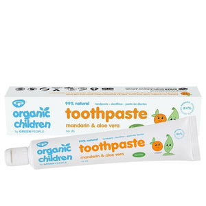 ORGANIC CHILDREN MANDARIN & ALOE VERA TOOTHPASTE 50ML – WITH FLUORIDE