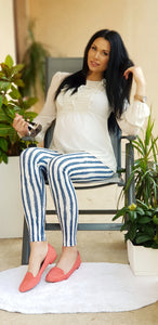 "Maternity leggings ""Stripes"""
