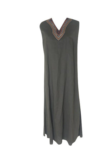 CC Collection - Khaki Linen Dress