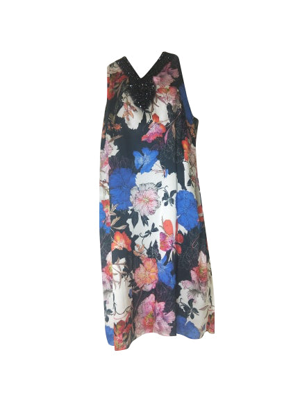 Badoo - 100% Silk Floral Dress - 16-186-00