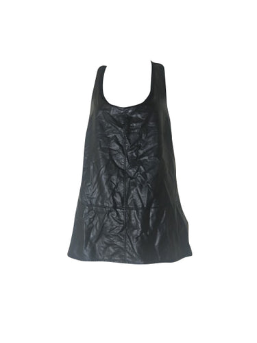 Jana - Leather Style Top