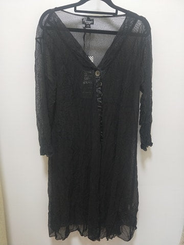 Threadz - Mesh Black Cardigan - 5939