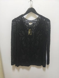 Filo - Black Lace Top - P199