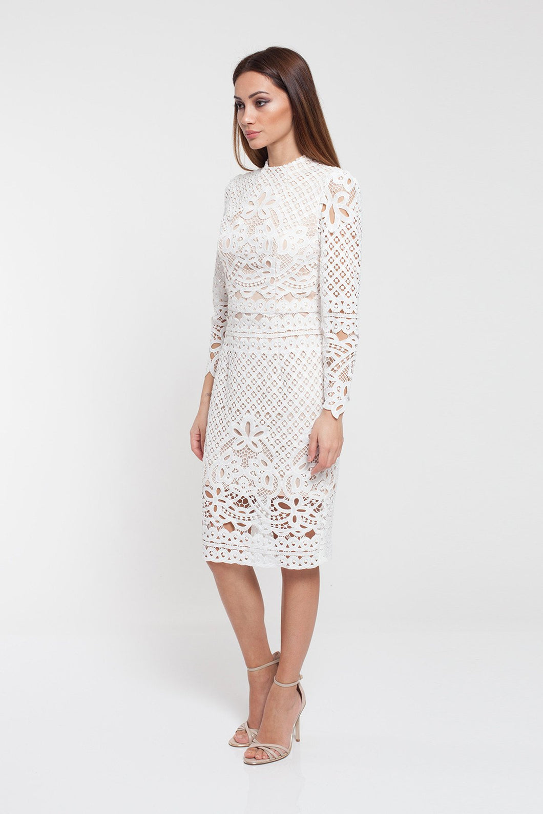 Romance - Annabelle Lace Long Sleeve - White - RD172004