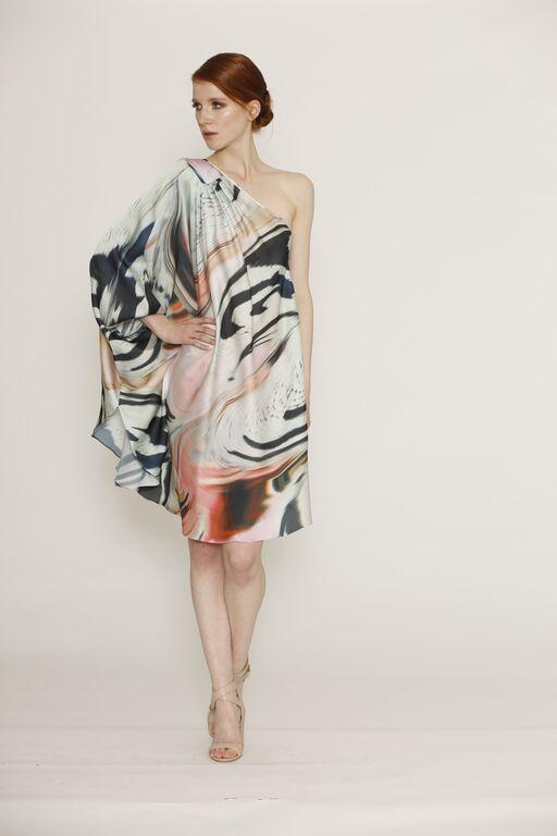 HONEY & BEAU - MARBLE KAFTAN DRESS - HD155011P