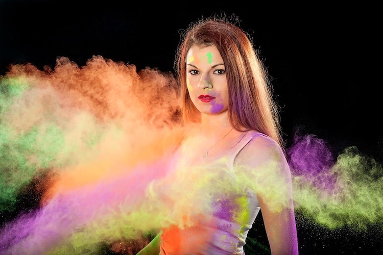 Colored Powder Photography Guide with MIOPS