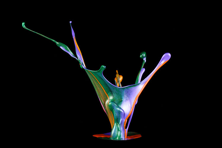 High-speed photography idea - Paint Sculptures
