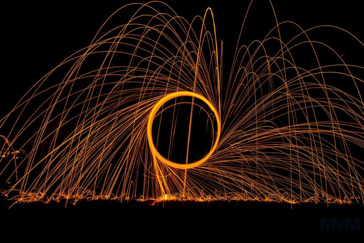 Light Painting photo using a camera trigger