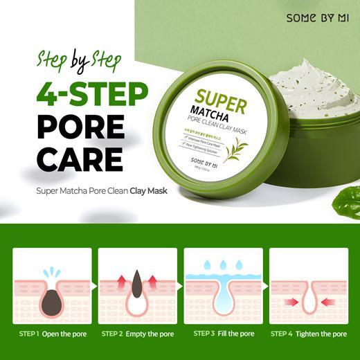 Some by mi Super MATCHA Pore Clean Clay Mask, 100g
