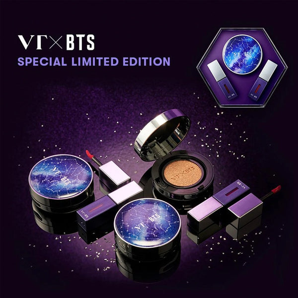 [VT Cosmetics] BTS The Sweet Special Edition Set - #21 light beige Cushion + 2 color Liptint