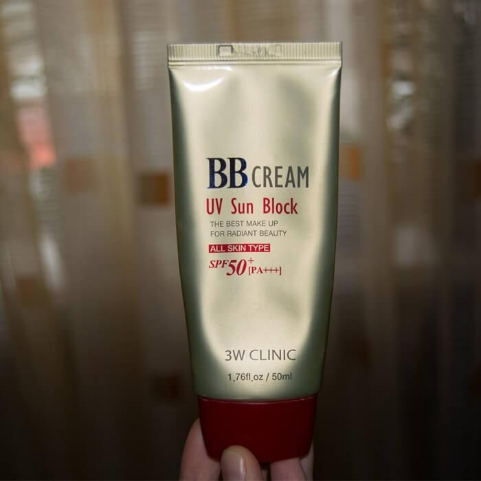 3w clinic bb cream uv sun block actual image
