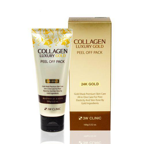 3w clinic collagen luxury 24k gold peel off pack