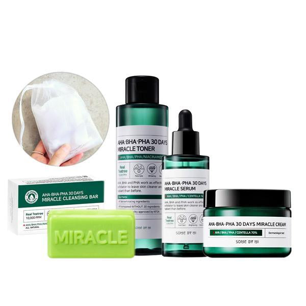 [BigSale] Somebymi AHA BHA PHA MIRACLE Full Routine Set (Soap+Toner+Serum+Cream)