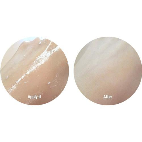 3w clinic collagen crystal peeling gel application on skin