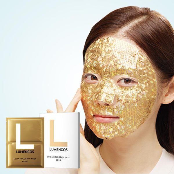 LUMENCOS Lucia Hologram Mask (Gold/Silver),1PC (whitening and anti-aging)