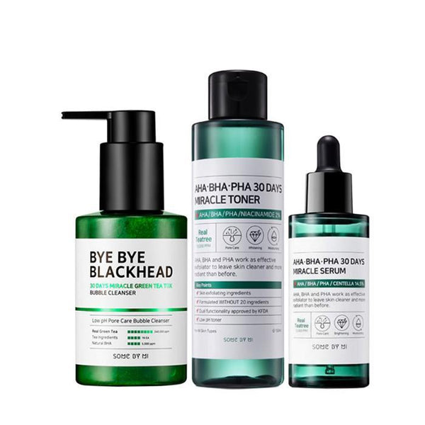 SOMEBYMI Bye Bye Blackheads + 30 Days Miracle Toner + Miracle Serum SET