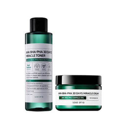 [Sale] Some by mi AHA BHA PHA Miracle toner and Miracle Cream (SET)