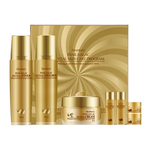 DEOPROCE Snail Galac Revital Skincare Set
