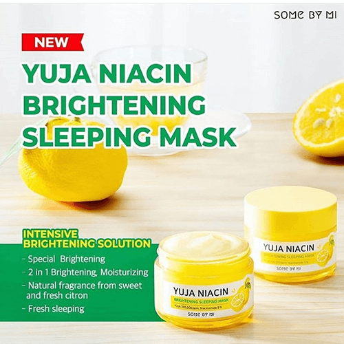 Somebymi Yuja Niacin Blemish Care Serum and Yuja Niacin Brightening Sleeping Pack SET