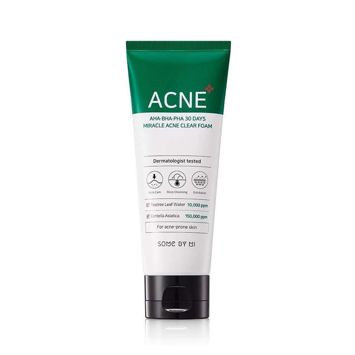 Some by mi 30 Days Miracle Acne CLEAR Foam Cleanser, 100ml