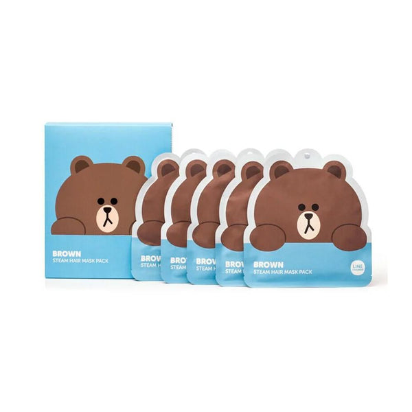 LINE FRIENDS Brown Steam Hair Mask Pack 1PC