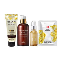 COLLAGEN Treat Skin Care Set, ( peel off mask + toner + serum + mask )