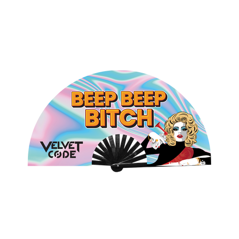 "Velvet Code ""BEEP BEEP BITCH"" Fan"